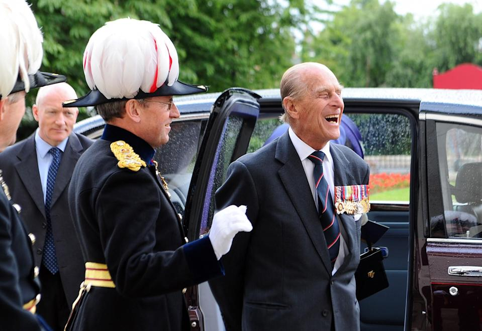 <p>The Duke of Edinburgh leaves after attending a Drumhead Service of Remembrance led by the Bishop of London at Royal Hospital Chelsea, London. (Photo credit: Stuart C. Wilson   PA Archive/PA Images) </p>