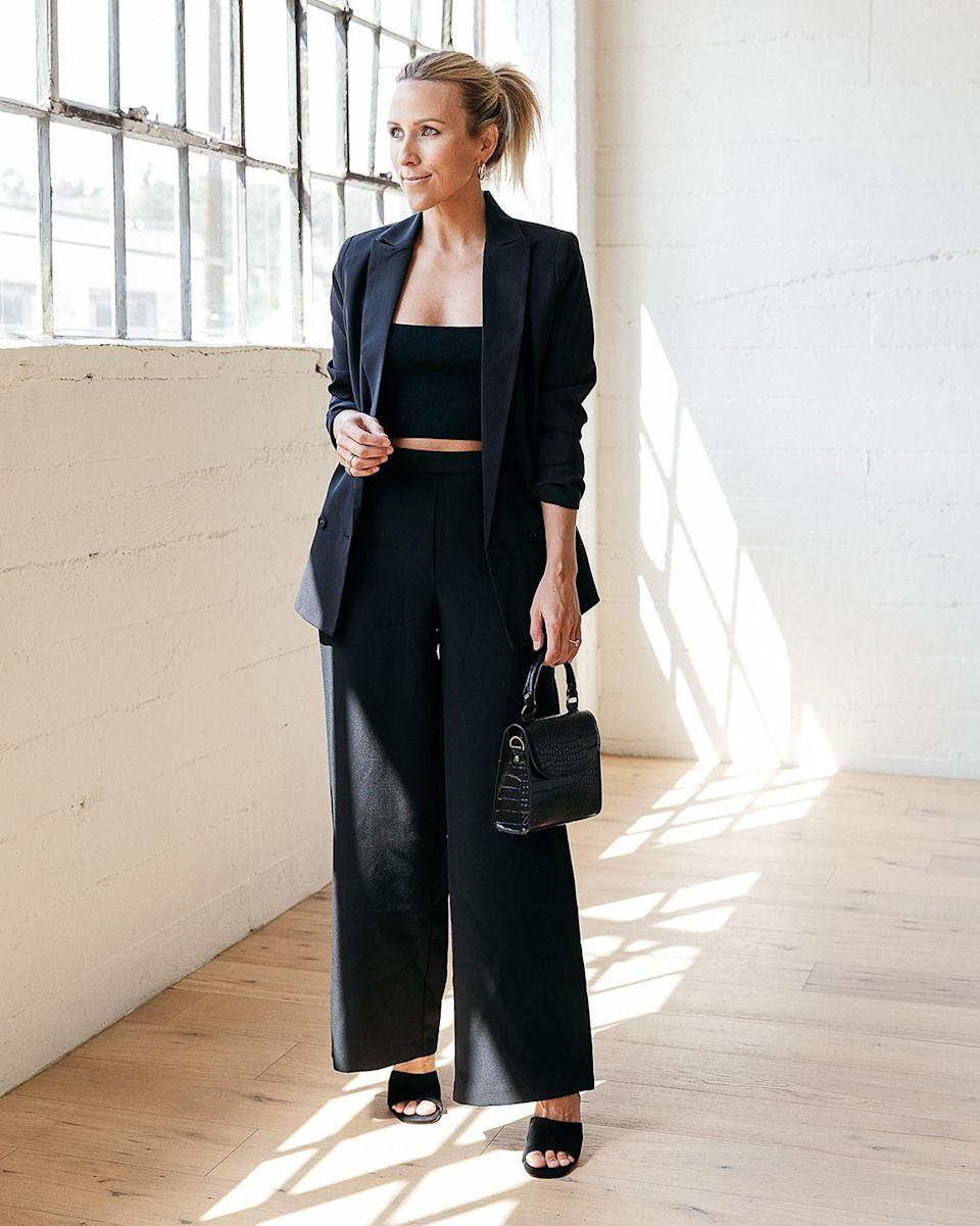 """<p>The perfectly cut blazer sounds like it ought to be easy to find, but die-hard shoppers know it's not the truth. The elegant lines on this version are spot-on.</p><p><em>The Drop Women's Black Lined Crossover Blazer by @jaceyduprie, $69.90</em></p><p><a class=""""link rapid-noclick-resp"""" href=""""https://www.amazon.com/dp/B08YKH225R?tag=syn-yahoo-20&ascsubtag=%5Bartid%7C10051.g.36027379%5Bsrc%7Cyahoo-us"""" rel=""""nofollow noopener"""" target=""""_blank"""" data-ylk=""""slk:SHOP NOW"""">SHOP NOW</a><br></p>"""