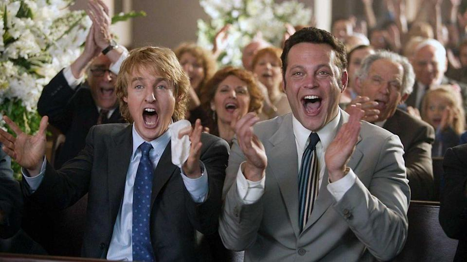 <p><strong><em>Wedding Crashers </em></strong></p><p>While the opportunistic best friends played by Owen Wilson and Vince Vaughn are D.C.-based lawyers, the wedding and family house with the football are all set in Maryland. </p>