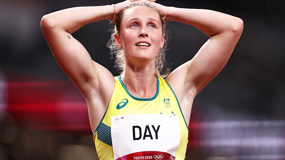 Riley Day, pictured here after the 200m semi-finals at the Tokyo Olympics.