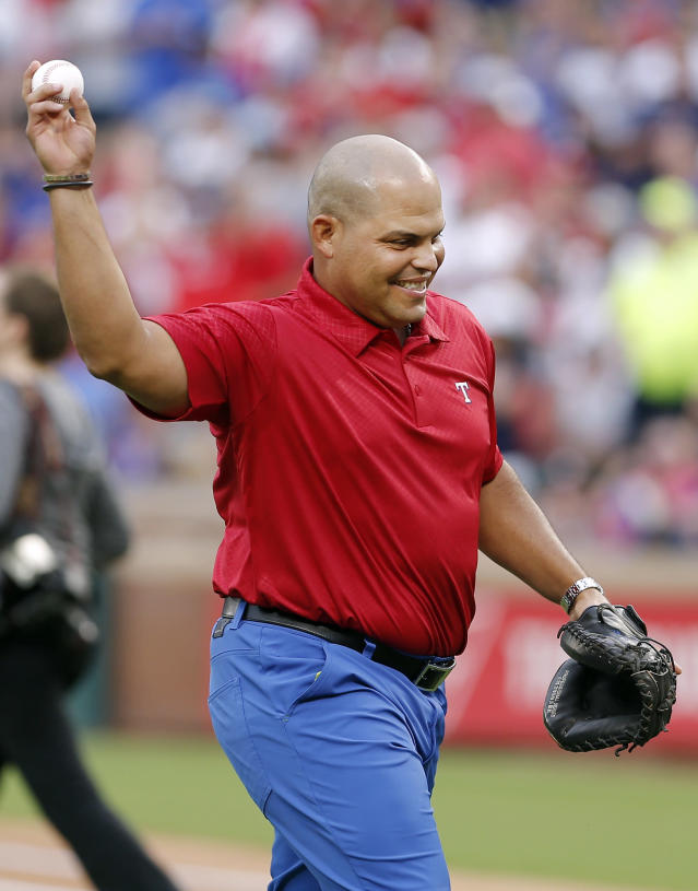 Hall of Famer Ivan Rodriguez will take part of in the delivery of food, water and other supplies to his home country of Puerto Rico. (AP)