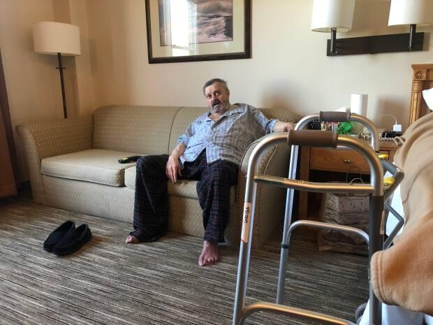 Stanley Hemming, 61, waits every week to find out if his hotel stay will be renewed. (Steve Lawrence/CBC - image credit)