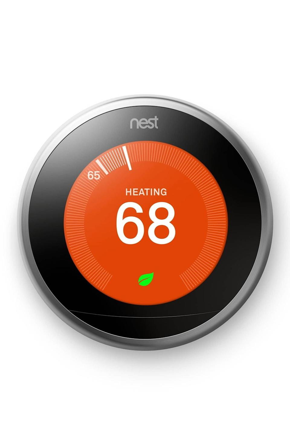 <p>Your life will get so much more seamless thanks to this <span>Nest Learning Thermostat</span> ($220, originally $249). It can reduce your heating and cooling bills by up to 15%, plus it knows your preferred temperature settings and can even detect carbon monoxide.</p>