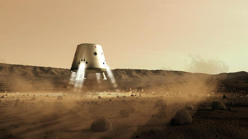 Mars One's plan would include robotic missions to find the perfect location for a colony, then a NASA-style rover which would build the foundations.