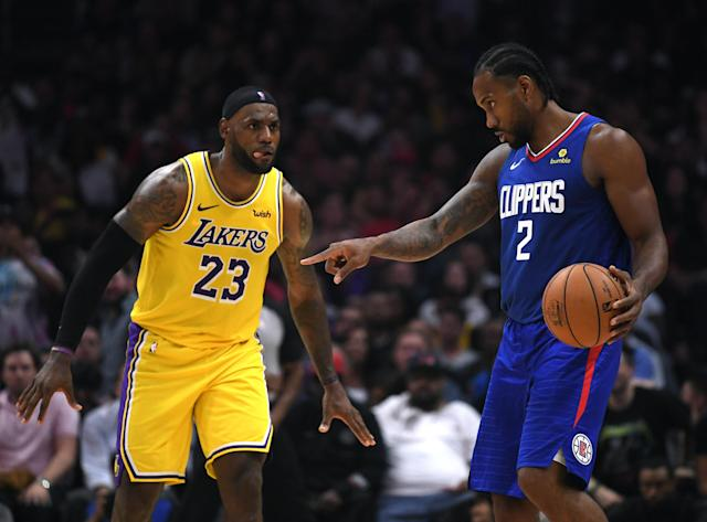Are the careers of Kawhi Leonard and LeBron James pointing in different directions? (Getty Images)