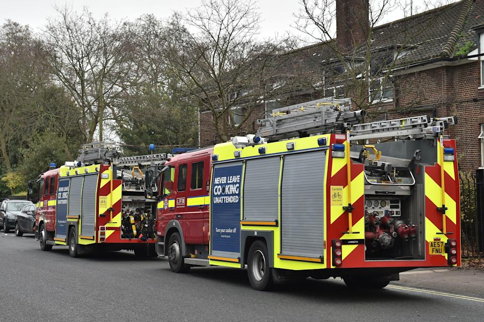 <em>Firefighters – More than 70 firefighters battled the blaze at London Zoo (Picture: PA)</em>