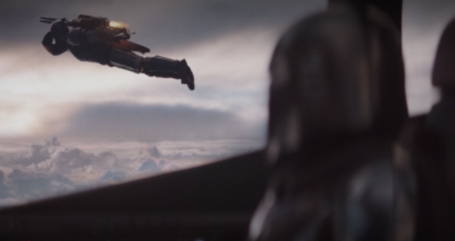 The Marvel Cinematic Universe invades the far, far away galaxy with this 'Iron Man' shout-out in 'The Mandalorian' (Photo: Disney+)