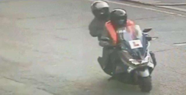 The killers on a stolen moped