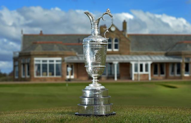 TROON, SCOTLAND - APRIL 26: The Claret Jug at Royal Troon Golf Club during the Open Championship Media Day at Royal Troon on April 26, 2016 in Troon, Scotland. (Photo by Mark Runnacles/Getty Images)