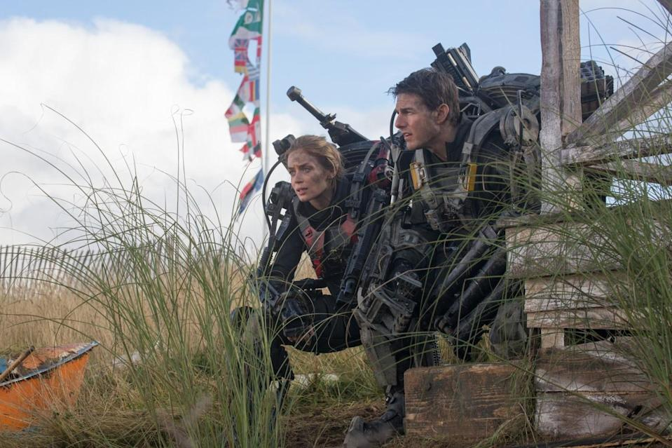 Tom Cruise and Emily Blunt face a recurring alien invasion in 'Edge of Tomorrow'. (Warner Bros)
