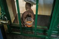 Help: A heroin addict gets medication at a clinic run by Doctors Without Borders (MSF) in Karuri