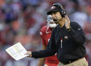 <p>Harbaugh arrived in San Francisco in 2011 and immediately turned around a franchise that had struggled for the better part of a decade. In his first three seasons, Harbaugh's 49ers appeared in three straight NFC championship games and a Super Bowl before things went downhill in 2014, when the team finished 8-8. Despite his success, tensions with the 49ers' front office led to his ouster following the 2014 campaign. </p>