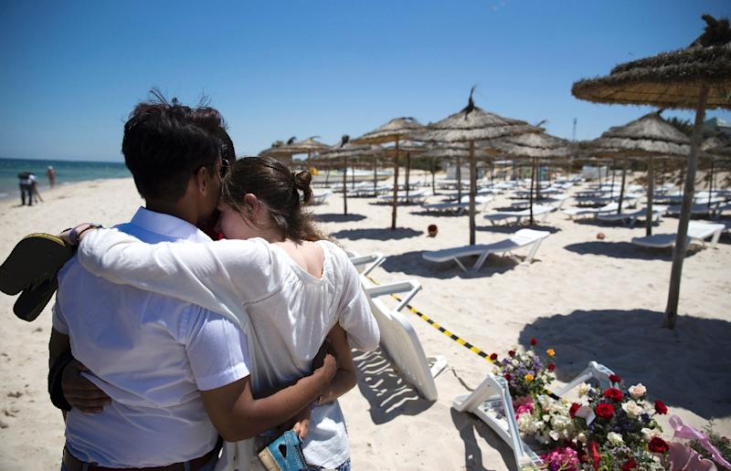 The shooting rampage at a Sousse tourist resort in June 2015 killed 38 people, mostly British tourists (AFP Photo/Kenzo TRIBOUILLARD)