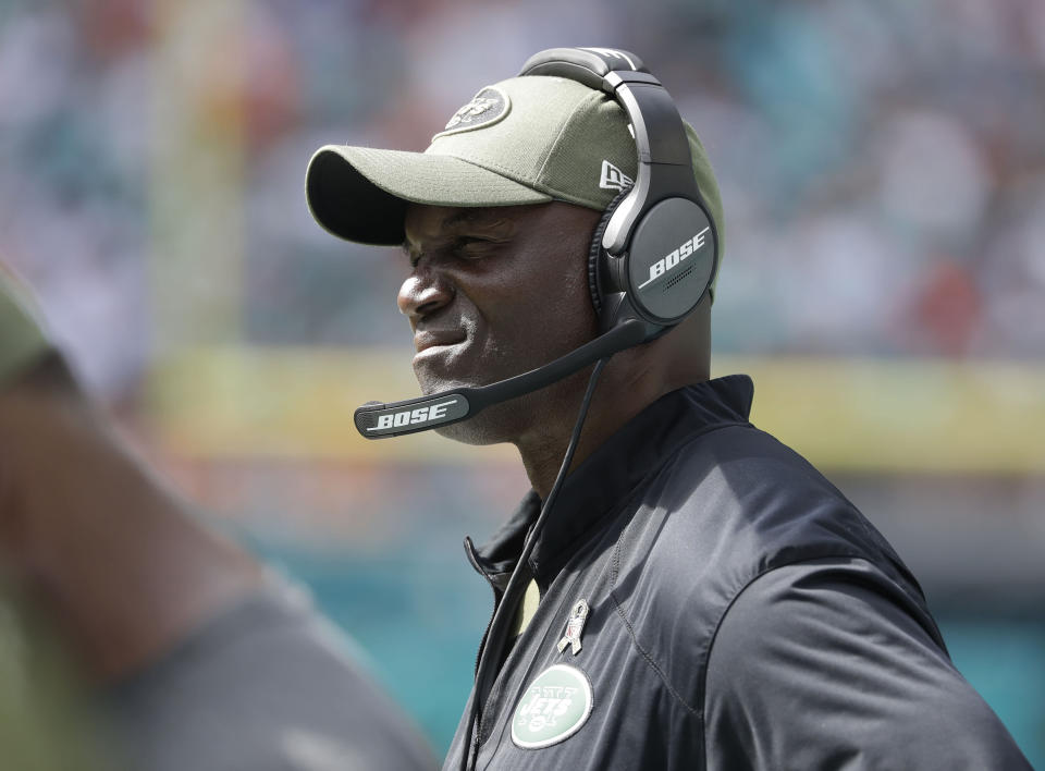 Todd Bowles' Jets fell to 3-6 with an ugly loss to the Dolphins. (AP)