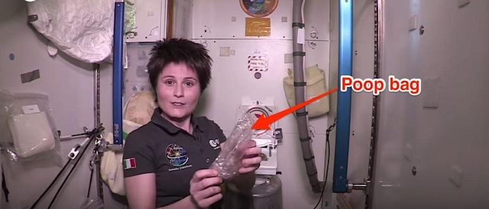 The Italian astronaut Samantha Cristoforetti demonstrated how to use the Russian toilet on the International Space Station in 2015.