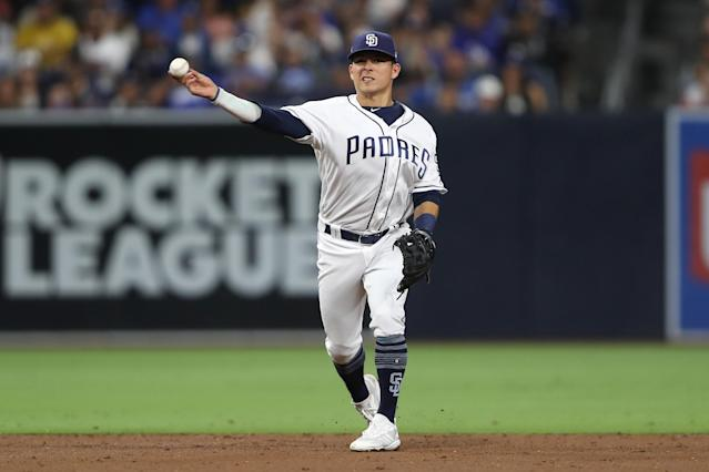 "<a class=""link rapid-noclick-resp"" href=""/mlb/players/10570/"" data-ylk=""slk:Luis Urías"">Luis Urías</a> batted .208 over his first 12 MLB games last season. (Sean M. Haffey/Getty Images)"