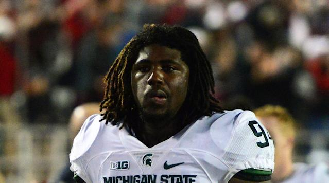 Former Michigan State football player Auston Robertson will spend up to 10 years in prison for sexually assaulting a female student in her off-campus apartment. (AP)