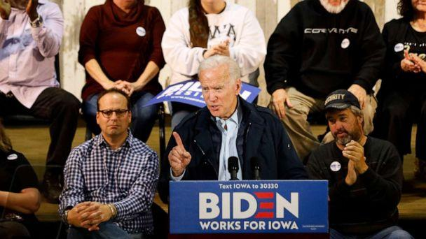 PHOTO: Democratic presidential candidate former Vice President Joe Biden speaks during a town hall meeting, in Fort Dodge, Iowa, Oct. 31, 2019. (Charlie Neibergall/AP, FILE)