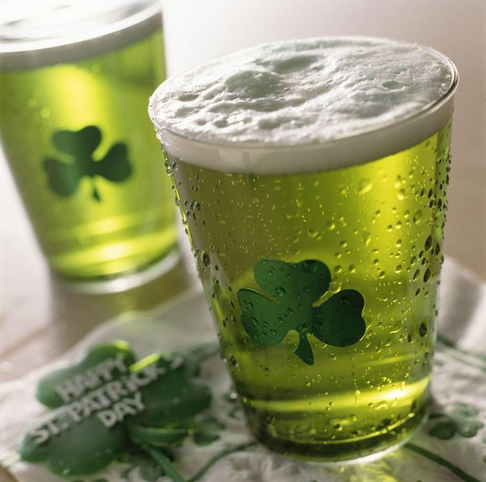 """<p>If there's one thing that's a must-do on St. Paddy's, it's drinking <a href=""""https://www.goodhousekeeping.com/food-recipes/easy/videos/a37082/how-to-make-green-beer/"""" rel=""""nofollow noopener"""" target=""""_blank"""" data-ylk=""""slk:green beer"""" class=""""link rapid-noclick-resp"""">green beer</a>! Whether you favor Guinness or something else, indulge in a pint this March 17 — and make sure to do an Irish toast for some extra luck.<br></p>"""