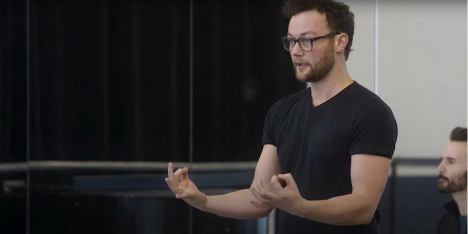 Liam Scarlett en 2019 - Capture d'écran YouTube - The Joffrey Ballet