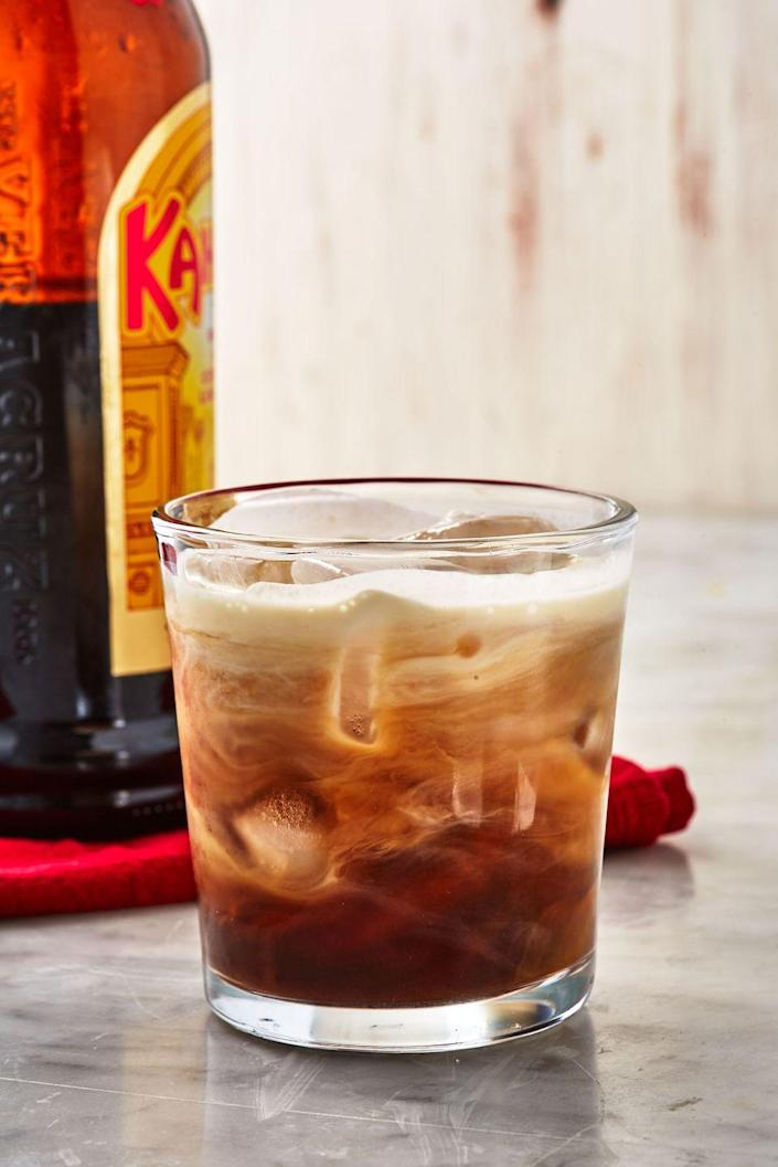 """<p>Perfect for the transition into the colder fall months.</p><p>Get the recipe from <a href=""""https://www.delish.com/cooking/recipe-ideas/a29091466/white-russian-cocktail-recipe/"""" rel=""""nofollow noopener"""" target=""""_blank"""" data-ylk=""""slk:Delish"""" class=""""link rapid-noclick-resp"""">Delish</a>.</p>"""