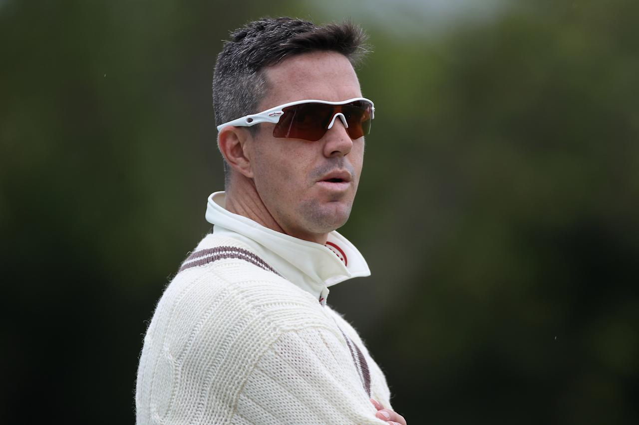 WORCESTER, ENGLAND - MAY 09:  Kevin Pietersen of Surrey fielding during day one of the LV County Championship First Division match between Worcestershire and Surrey at New Road on May 9, 2012 in Worcester, England.  (Photo by Michael Steele/Getty Images)