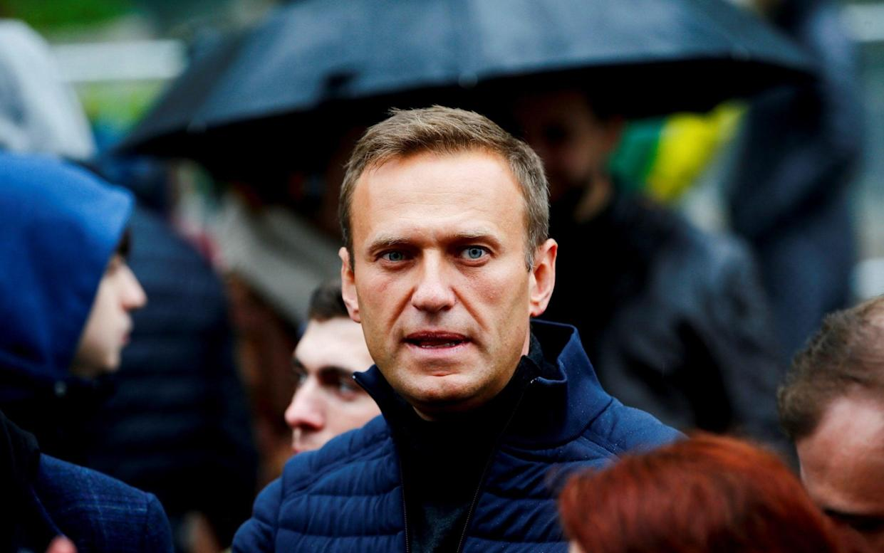 Investigators previously opened a dubious money laundering case against opposition leader Alexei Navalny's anti-corruption foundation after protests this summer - Anadolu
