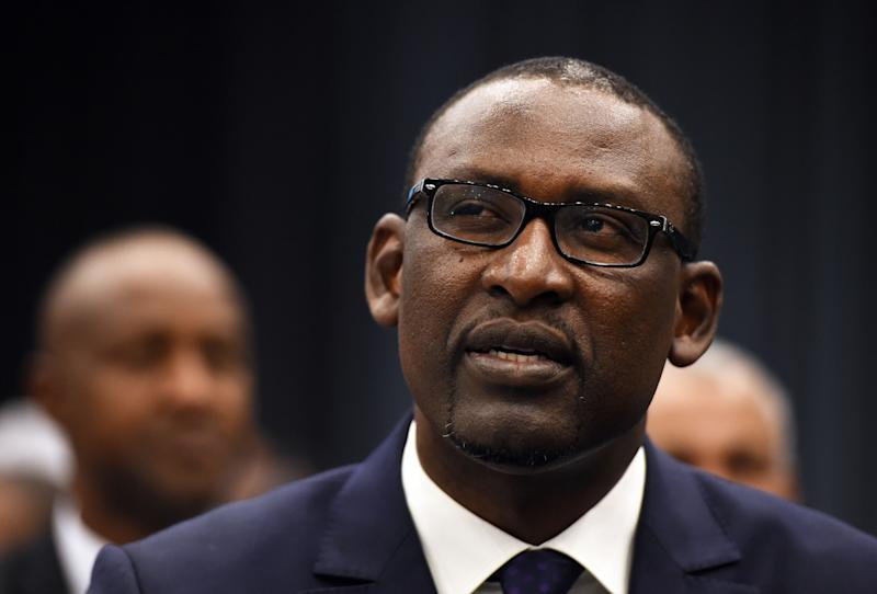 Malian Foreign Affairs Minister Abdoulaye Diop attends the opening of peace talks on September 1, 2014 in Algiers between the Malian government and armed rebels (AFP Photo/Farouk Batiche)