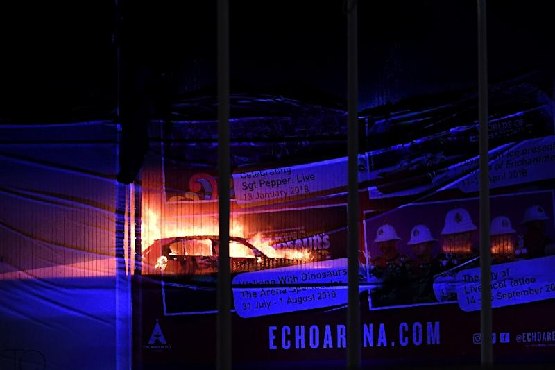 Echo Arena thanks emergency services after auto park fire