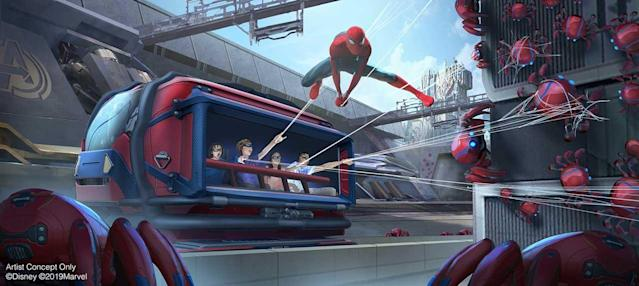 Spider-Man swings into action at Disneyland's Avengers Campus (Photo: Disneyland Resorts)
