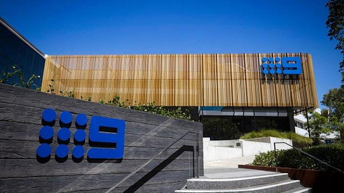 A general view of Channel Nine's signage