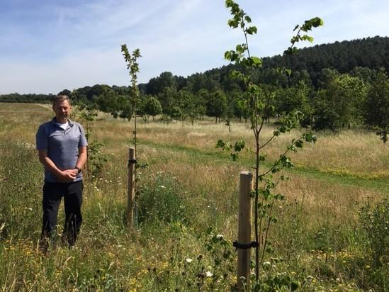 Steve Barnes at Tithe Green Burial Ground, Nottinghamshire (Independent)