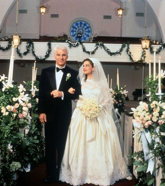 PHOTO: Steve Martin walking down the aisle with Kimberly Williams-Paisley in a scene from the film 'Father Of The Bride,' 1991. (Archive Photos/Touchstone via Getty Images FILE)