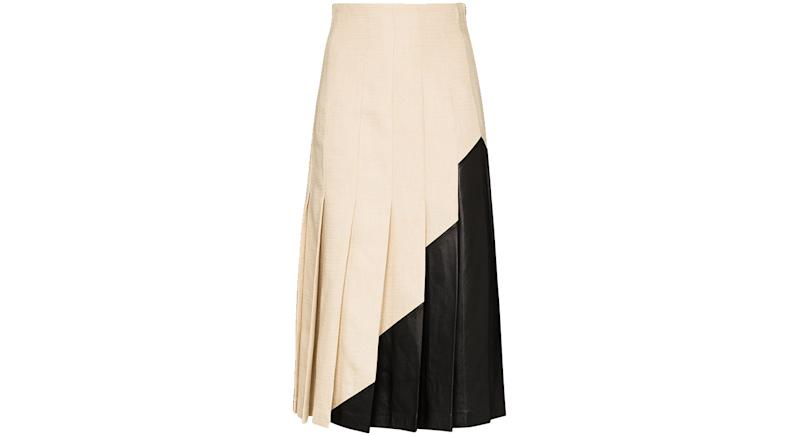 Joseph Saar panelled pleated midi skirt
