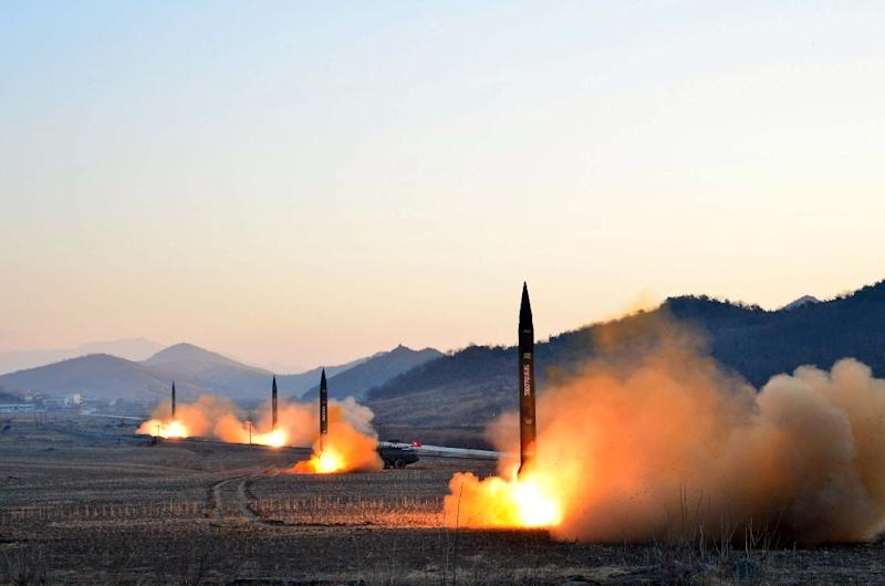 North Korea launched four ballistic missiles in March and many analysts fear the reclusive state could be preparing another nuclear or missile test (AFP Photo/)