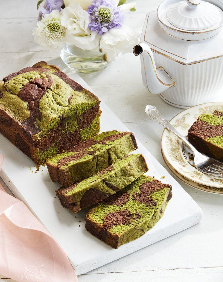 "<p>Matcha and unsweetened cocoa ensure this cake isn't overly sweet.<br></p><p><strong><a href=""https://www.countryliving.com/food-drinks/a26861228/chocolate-matcha-pound-cake-recipe/"" rel=""nofollow noopener"" target=""_blank"" data-ylk=""slk:Get the recipe"" class=""link rapid-noclick-resp"">Get the recipe</a>.</strong><br></p>"