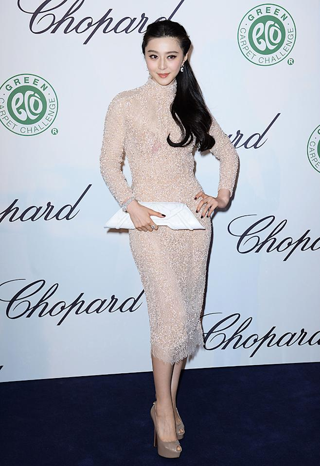 CANNES, FRANCE - MAY 17:  Actress Fan Bingbing attends the Chopard Lunch during the 66th Annual Cannes Film Festival on May 17, 2013 in Cannes, France.  (Photo by Samir Hussein/Getty Images)
