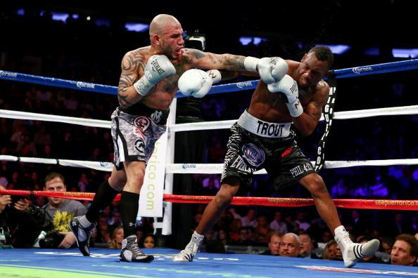NEW YORK, NY - DECEMBER 01:  Austin Trout fights against Miguel Cotto in their WBA Super Welterweight Championship title fight at Madison Square Garden on December 1, 2012 in New York City.  (Photo by Michael Heiman/Getty Images)