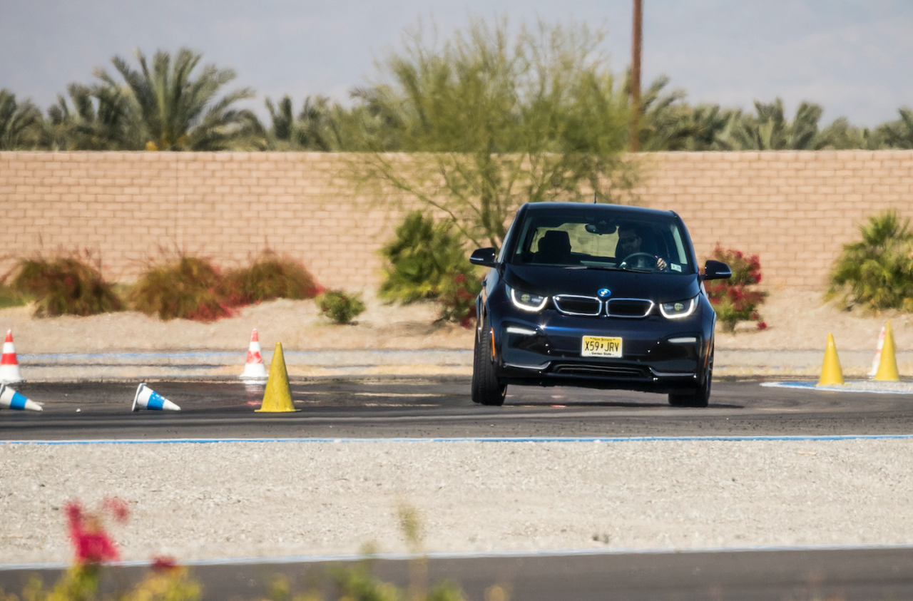 "<p>When the i3 <a rel=""nofollow"" href=""https://www.roadandtrack.com/new-cars/road-tests/reviews/a5825/bmw-i3-road-test/"">first debuted in 2013</a>, the instant electric torque made it one of the quickest cars in BMW's lineup. The i3s's 184-horsepower motor (versus the standard car's 170 horsepower) makes it even quicker. This off-the-line swiftness is key for any autocross car, allowing the i3 to get up to speed quickly, without having to wait for turbos to spool up or RPMs to climb. </p>"