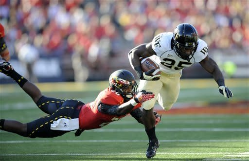 Maryland rallies past Wake Forest 19-14
