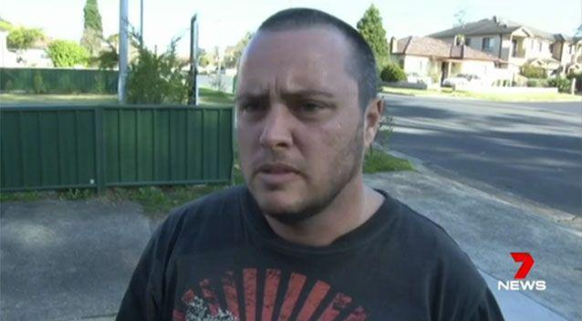 A witness, Adam, said he yelled at the dogs to try and get the m to stop attacking, then they turned on him. Picture: 7 News