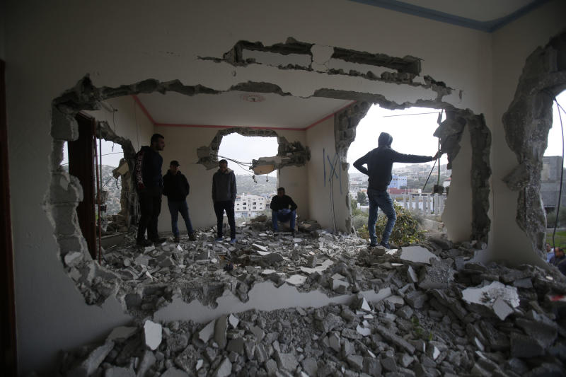 Israeli military partially destroys home of alleged militant