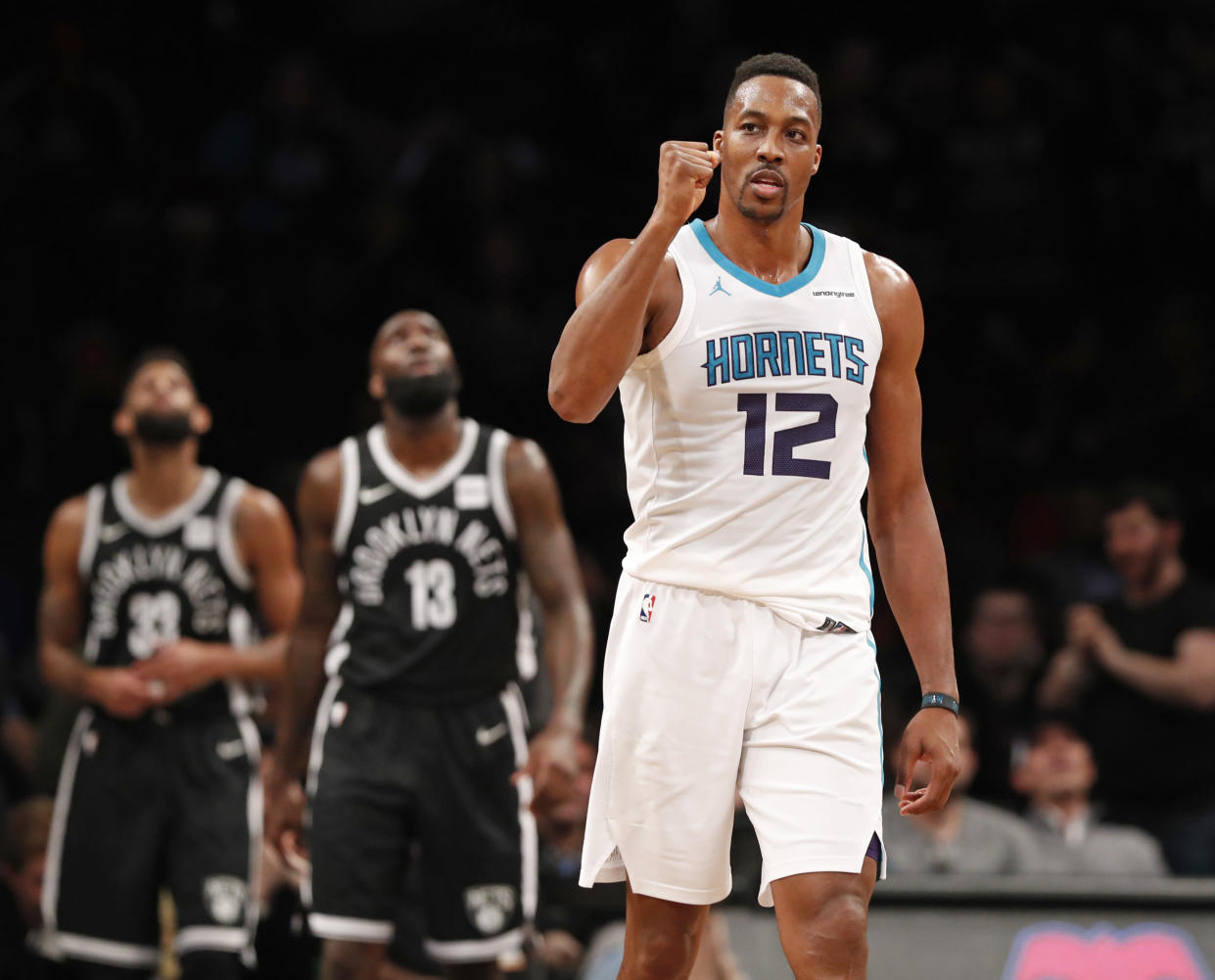 Dwight Howard, fresh off his 32 point, 30 rebound performance, will serve a one-game suspension on Thursday after picking up his 16th technical foul of the season. (AP Photo/Kathy Willens)