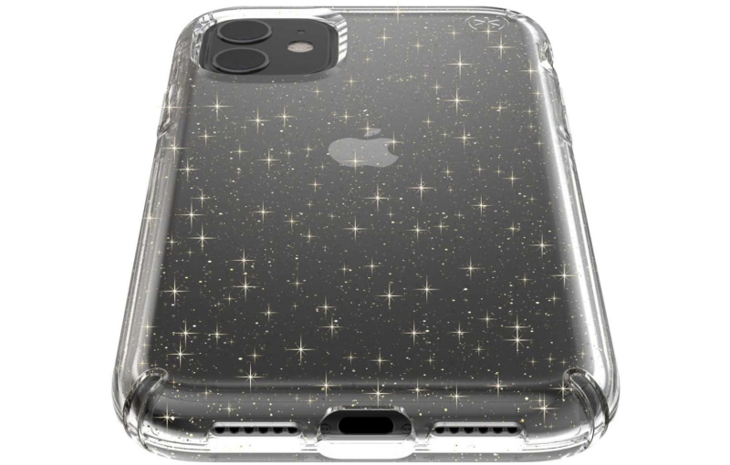 Speck iPhone 11 Presdio Clear Glitter Gold. (PHOTO: Lazada)