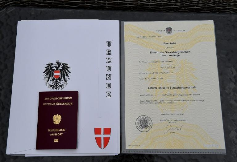 So far, under the new law more than 1,900 have obtained Austrian citizenship, mostly from the US, Britain and Israel
