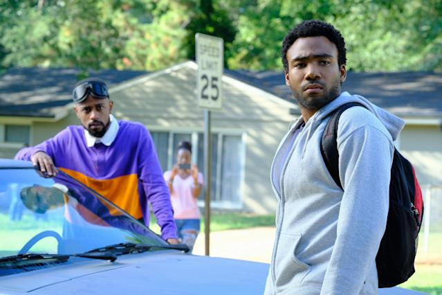 Lakeith Stanfield and Donald Glover in