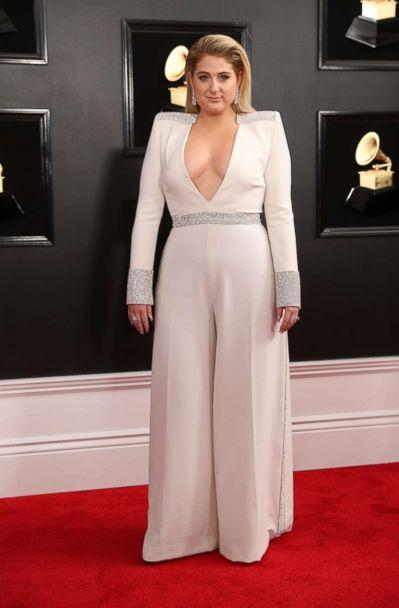 PHOTO: Meghan Trainor arrives at the 61st Grammy Awards in, Los Angeles, Feb. 10, 2019. (Lucy Nicholson/Reuters)