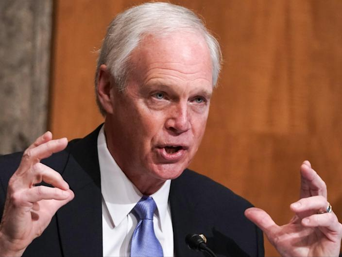 Senate Homeland Security and Governmental Affairs Committee Chairman Ron Johnson (R-WI) speaks during a Senate Homeland Security and Governmental Affairs Committee hearing to discuss election security and the 2020 election process on 16 December 2020 in Washington, DC ((Getty Images))