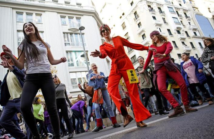 Protest by Extinction Rebellion in Madrid