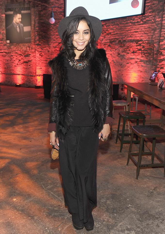 NEW YORK, NY - FEBRUARY 05:  Vanessa Hudgens attends the John Varvatos Celebration of The New JohnVarvatos.com on February 5, 2013 in New York, United States.  (Photo by Dimitrios Kambouris/Getty Images for John Varvatos)